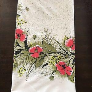 Vintage 1960s floral tablecloth